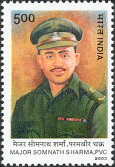 Somnath_Sharma_2003_stamp_of_India